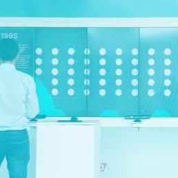 banner agrobrasilia - homem em frente a paineis interativos